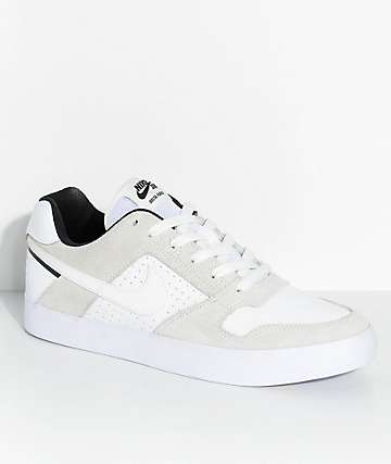 Nike SB Delta Force White & Summit White Skate Shoes