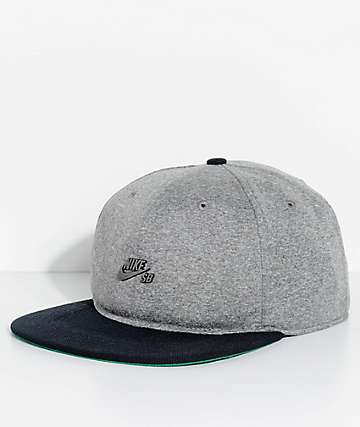 Nike SB Dri-Fit Aerobill Grey & Black Strapback Hat