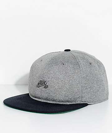 Nike SB Dri-Fit Aerobill Grey & Black Strapback Hat