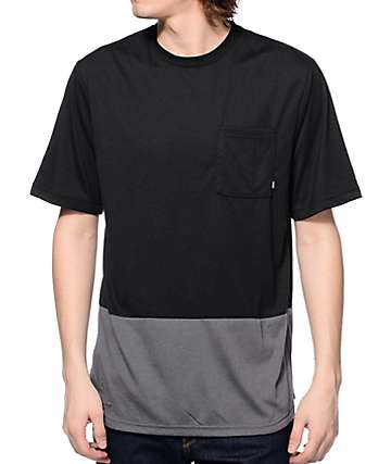 Nike SB Dri-Fit Black & Grey Pocket T-Shirt