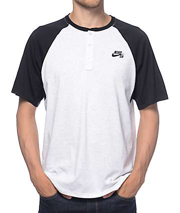 Nike SB Dri-Fit Black Henley T-Shirt