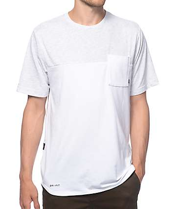 Nike SB Dri-Fit Blocked White Pocket T-Shirt