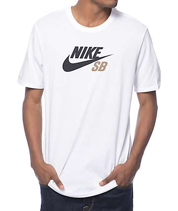 Nike SB Dri-Fit Icon Logo White T-Shirt