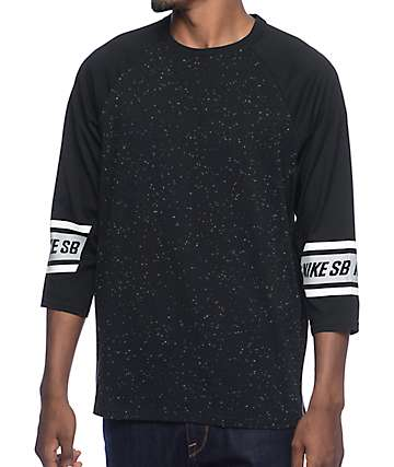 Nike SB Dri-Fit Nepps Black Raglan Shirt