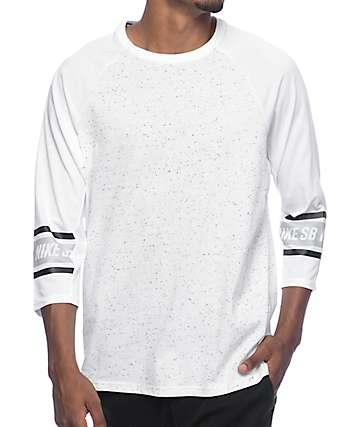 Nike SB Dri-Fit Nepps White Raglan Shirt