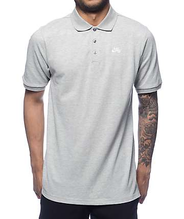 Nike SB Dri-Fit Pique Grey Polo Shirt