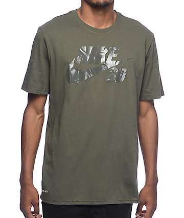 Nike SB Dri-Fit SB Logo Dark Green T-Shirt