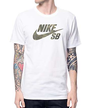 Nike SB Dri-Fit Shadow Icon White T-Shirt