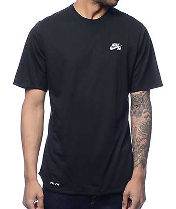 Nike SB Dri-Fit Skyline Cool GFX Black T-Shirt
