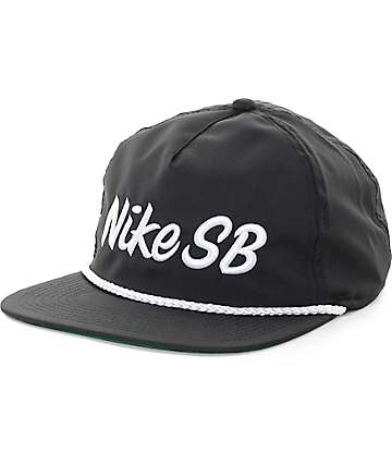 Nike SB Dri-Fit Unstructured Pro Black Snapback Hat