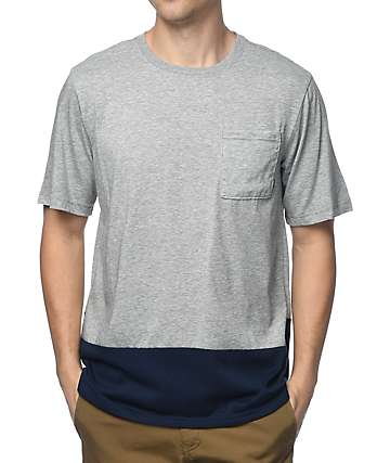 Nike SB Dri-Fit camiseta gris con bolsillo