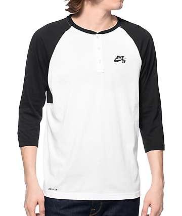 Nike SB Dri-Fit camiseta henley estilo béisbol
