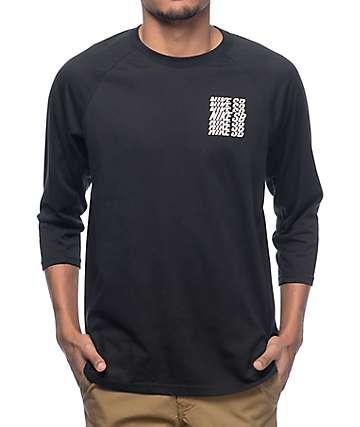 Nike SB Dry Black & Black Baseball T-Shirt