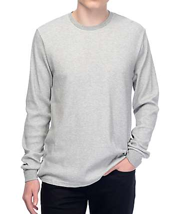 Nike SB Dry Thermal Heather Grey Long Sleeve Shirt
