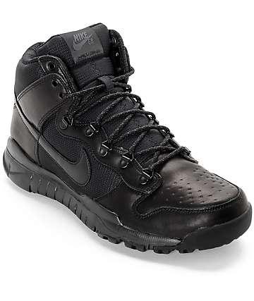 Nike SB Dunk High OMS zapatos en negro sólido