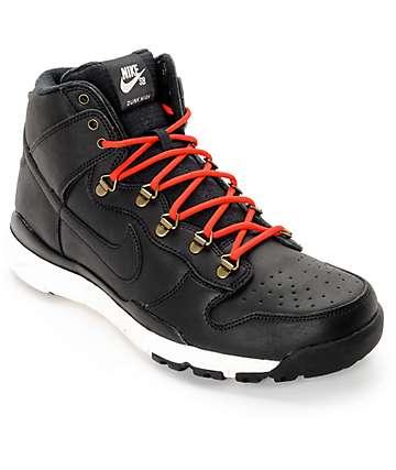 Nike SB Dunk High OMS zapatos en rojo, negro y blanco