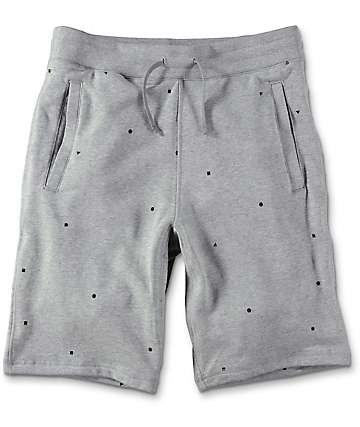 Nike SB Everett Geo Heather Grey Sweat Shorts