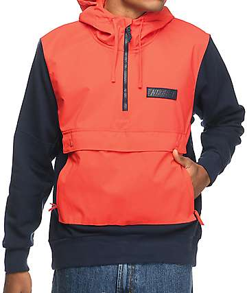Nike SB Everett Max Orange & Obsidian Repel Anorak Jacket