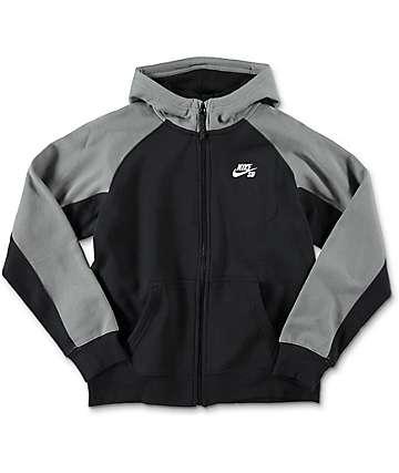 Nike SB Everett sudadera con cremallera en negro para niños
