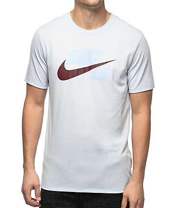 Nike SB Futura Tonal Hybrid Logo Dri-Fit Light Blue T-Shirt