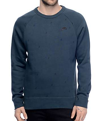 Nike SB Icon Bolt Seaweed & Black Crew Neck Sweatshirt