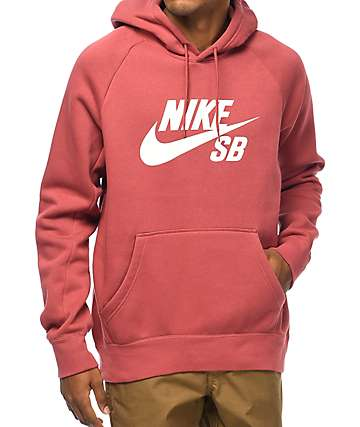 Nike SB Icon Cedar Red & White Hoodie