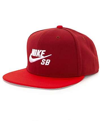 Nike SB Icon Dark Cayenne Snapback Hat