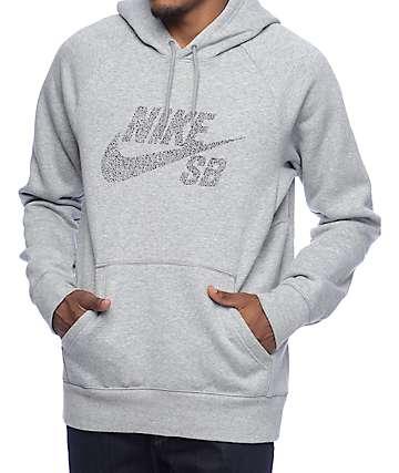 Nike SB Icon Dots Grey Hoodie