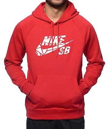 Nike SB Icon Griptape Burgundy Hoodie
