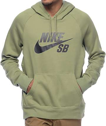Nike SB Icon Palm Green & Black Hoodie