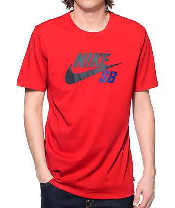 Nike SB Icon Reflective Red Dri-Fit T-Shirt