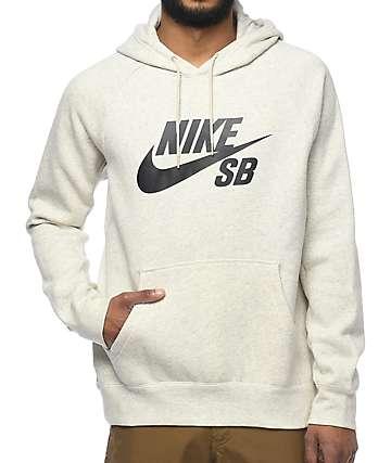 Nike SB Icon sudadera con capucha en color crema