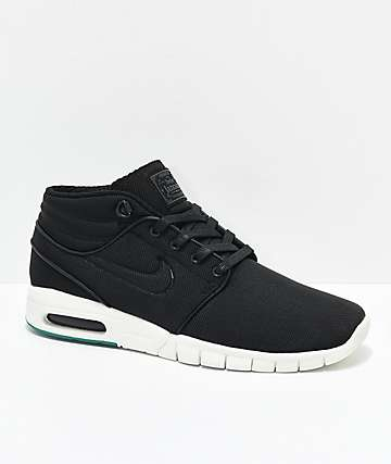 Nike SB Janoski Air Max Mid Anthracite Black & White Skate Shoes