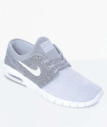Nike SB Janoski Air Max zapatos de skate en gris y blanco