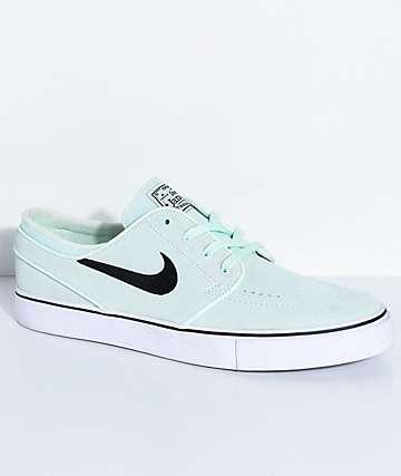 Nike SB Janoski Barley Green Suede Skate Shoes