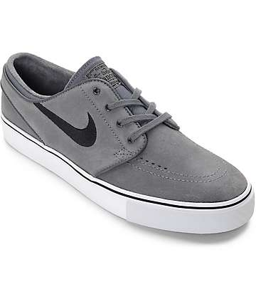 Nike SB Janoski Dark Grey & Black Skate Shoes