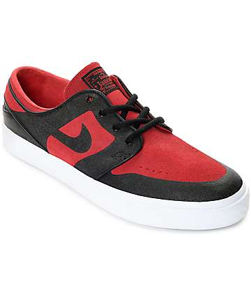 Nike SB Janoski Elite Gym Red & Black Skate Shoes
