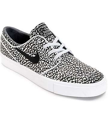 Nike SB Janoski Elite Road Black & White Skate Shoes