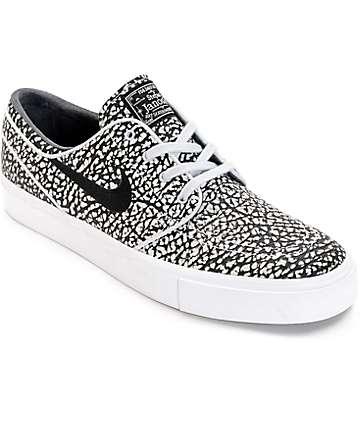 Nike SB Janoski Elite zapatos de skate en blanco y negro