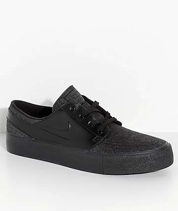 Nike SB Janoski High Tape Black & Anthracite Skate Shoes