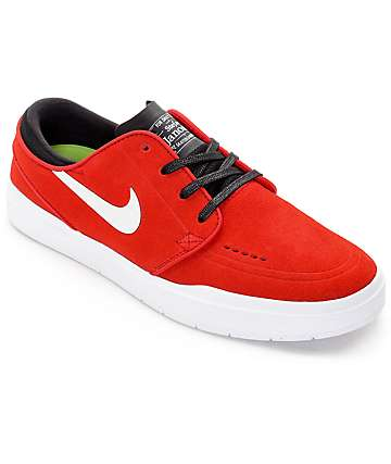 Nike SB Janoski Hyperfeel Red, Black & White Skate Shoes