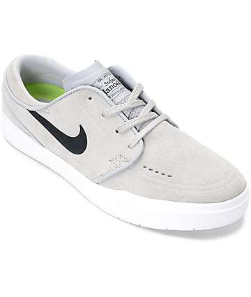 Nike SB Janoski Hyperfeel Wolf & White Skate Shoes