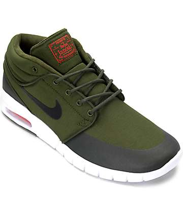 Nike SB Janoski Max Mid Legion & Black Skate Shoes