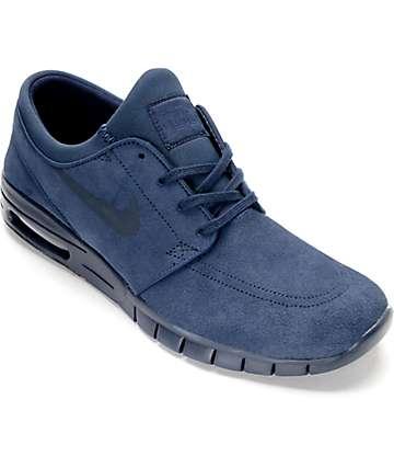 Nike SB Janoski Max zapatos de skate en azul marino