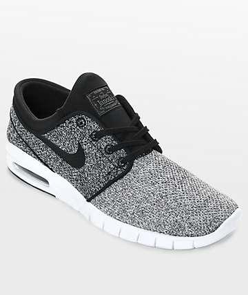 Nike SB Janoski Max zapatos de skate en gris, negro y blanco