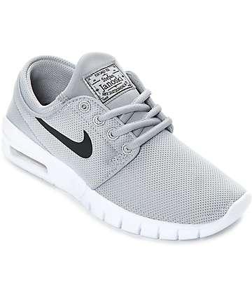 Nike SB Janoski Max zapatos de skate en gris y blanco para niños