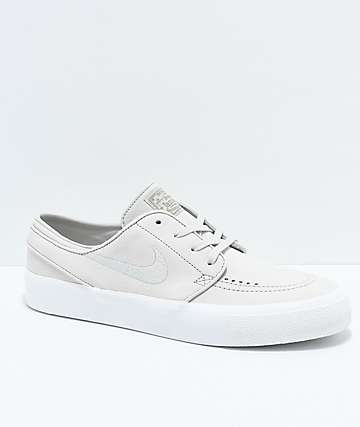 Nike SB Janoski Premium High Tape Deconstructed Light Bone & White Skate Shoes