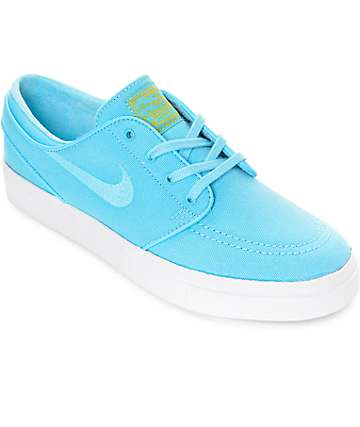 Nike SB Janoski Vivid Sky Blue Canvas Skate Shoes