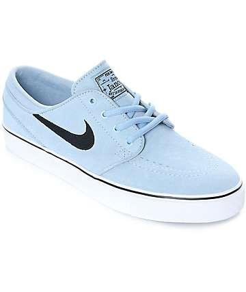 Nike SB Janoski zapatos de skate de ante azul claro para mujeres