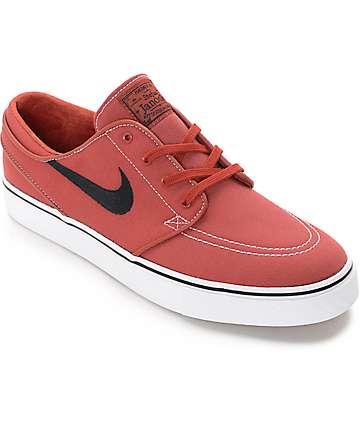 Nike SB Janoski zapatos de skate en blanco y color pimentón